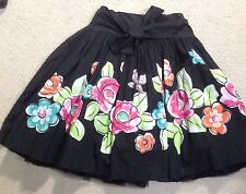 NWT~The Children's Place Black Floral Butterflies Sequin Party Skirt~14~RARE