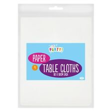 Pack of 4 White Paper Table Cloths 90x90cm Large Disposable Party Banquet cover