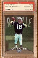1998 Finest Peyton Manning Rookie Card (GEM MINT PSA 10) - #121