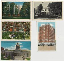 Lot of 5 Old Postcards - Scenes in Columbia SC