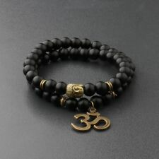 8MM Natural Obsidian Beads Double winding Charm Buddha Beads Fashion Bracelets