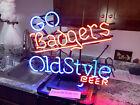 "Vintage ""Go Badgers"" Old Style Beer Neon Sign Wisconsin Badgers *WORKS* (7986)"