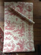 Vintage Pierre Deux French country Wallpaper roll shabby chic garden  floral vtg