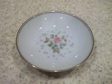 """4 Noritake Rosebud 6017 Dessert Fruit Bowls 5 1/2"""" Pink Roses Gold Trim"""