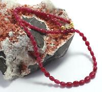 Wunderschöne Rubin Kette edelsteinkette,halskette,rubine,oval,Collier,925 Silber