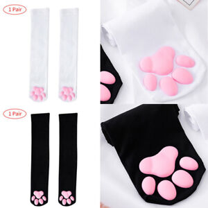"""3D Cat Claw Toe Paw Pad Thigh High Socks Stockings for Women Girls Cute Gift 20"""""""