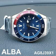 Genuine SEIKO ALBA AG8J39X1 Stainless Steel 40mm Men's Watch