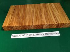 "Pak 87 of 10 Nice Italian Olivewood Pen Blanks 125 x 20,""May 2020 New Stock"""