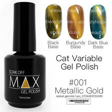 MAX 15ml Magnetic Cat Eye Variable Soak Off Gel Polish Nail Art UV LED Colour