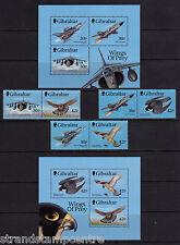 Gibraltar - 1999 Wings of Prey (1st Series) - U/M-SG 883-8 + MS889 (2)