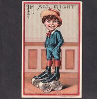 Belding Sewing Thread Spools 1800's Roller Skate Fantasy Victorian Trade Card