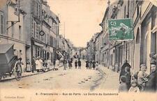 CPA 95 FRANCONVILLE RUE DE PARIS LE CENTRE DU COMMERCE