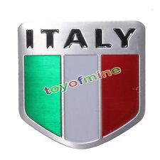Metallo della lega di alluminio auto Adesivi 3D Italiano Flag Sticker