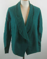 Chico's Calista Wool Open Front Cardigan Sweater 2 L Gallant Green NWT Womens