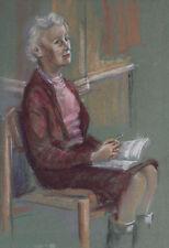 Künstlerische Malerei des Zeitraums 1950-1999 auf Leinwand-Pastell