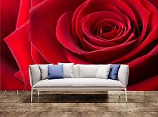 Wall Mural Paper Red rose 3D Poster Print Tapestry Photo Wallpaper Home