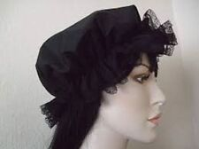 Black mop hat adults lace detail,rocky horror gothic