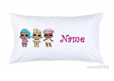 Girls Personalised Lol Dolls Pillow Case