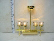 Dollhouse Miniature Battery Operated Lamp - 4 Light  Chandelier #CL32SNB