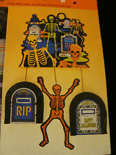Amscan hanging halloween honeycomb cutout die cut decorations New old stock NIP