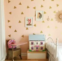 152 pcs Mini Triangle Removable Wall Stickers Vinyl Decal Kids Art Mural Decor