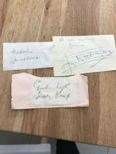 The Crazy Gang  signed autograph pages Jimmy Nervo Teddy Knox Noel Gay