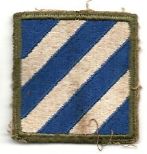 3RD INFANTRY DIVISION US ARMY PATCH WW2 WWII SSI ORIGINAL UNIFORM REMOVED