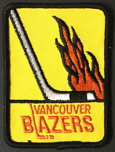 1970's Vintage Vancouver Blazers WHA Jersey Patch Crest Pacific Coliseum Hockey