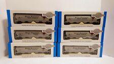 Bachmann HO Train Silver Series Lot of 6 Great Northern Hopper Cars NIB & RTR