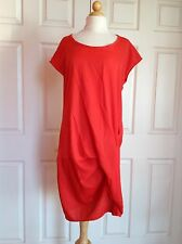 PURE DKNY Orange Ruched Dress Size M