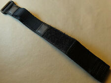 Small Womens Kids Teen 13-16mm LONG Nylon Black Watch Band for Smaller Watches