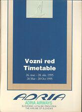 Adria Airways system timetable 3/26/95 [5071] Buy 2 get 1 free