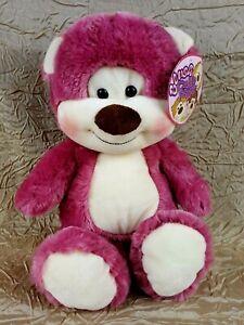 """KellyToy Cuddle Friends Blush 15"""" Bear w/ Rosey Red Cheeks NWT"""