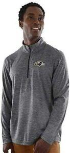 Baltimore Ravens Men's Intimidating Performance 1/2 Zip Top Jacket - Charcoal
