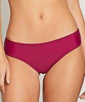 Volcom 237981 Womens Solid Cheeky Bikini Bottom Swimwear Purple Size X-Small