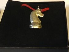 "Chess Horse Knight GT21 English Pewter On 18"" Red Cord Necklace"