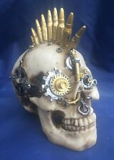 Steampunk Gears of War (sm) Skull Nemesis Now New Boxed Ornament Gothic Skeleton