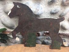 Très Belle girouette en fer Metal 1920 au cheval Art Populaire Très Belle Patine