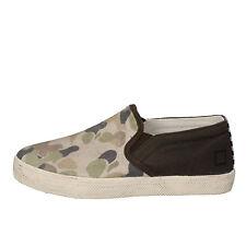 scarpe bambino D.A.T.E (date) 32 EU mocassini verde beige tessuto AD846-B