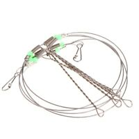 1/10pc Fishing Swivel String Hook Steel Anti-Winding Rigs Wire Leader Hooks Line
