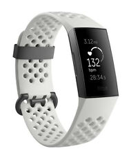 Fitbit Charge 3 Activity Tracker - Frost White Sport/ Graphite Aluminum