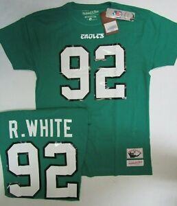 REGGIE WHITE Philadelphia Eagles Mitchell & Ness Throwback T Shirt Mens Pick Siz