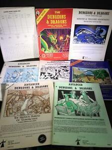 H11) LOT 7 ADVANCED DUNGEONS DRAGONS TSR HOBBIES PAPERBACK BOOKS PLUS 26 LOOSE