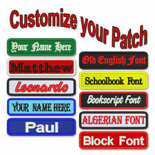 """CUSTOM PATCH 4""""X1"""" IIRON ON / SEW ON PERSONALIZED EMBROIDERED BIKER BADGE ARMY"""