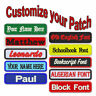 "CUSTOM PATCH 4""X1"" IIRON ON / SEW ON PERSONALIZED EMBROIDERED BIKER BADGE ARMY"