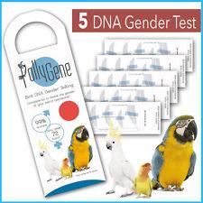 5 Kits Sexado de Aves mediante ADN para Agapornis, Loros, Cacatúas (Psitacidas)