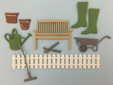 Gardening x 14 Card Toppers Foam Die Cuts Embellishments Crafts Scrapbooking