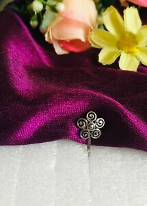 Indian nose rings Non piercing silver oxidised clip on nose ear rings jewellery