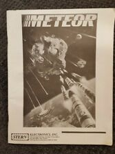 Meteor Pinball Game Manual and Schematics by Stern