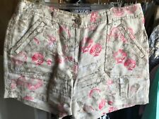 6 Women TOMMY BAHAMA Shell Print Linen Shorts Patch Pocket
